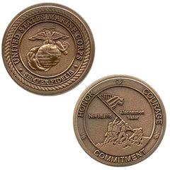 Marine Corps Coin: Honor Courage Commitment