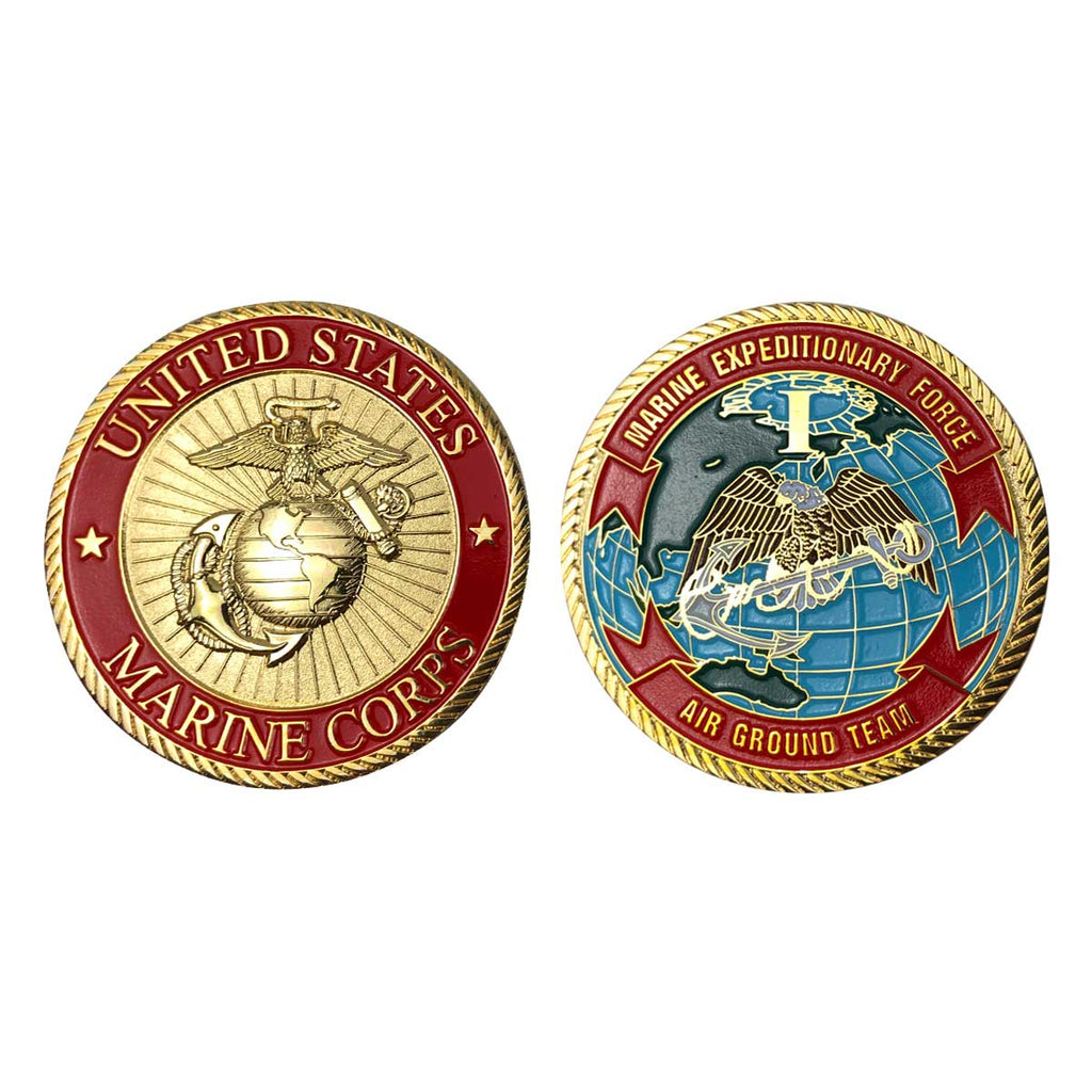 Marine Corps Coin: First Marine Expeditionary Force - Air Ground Team