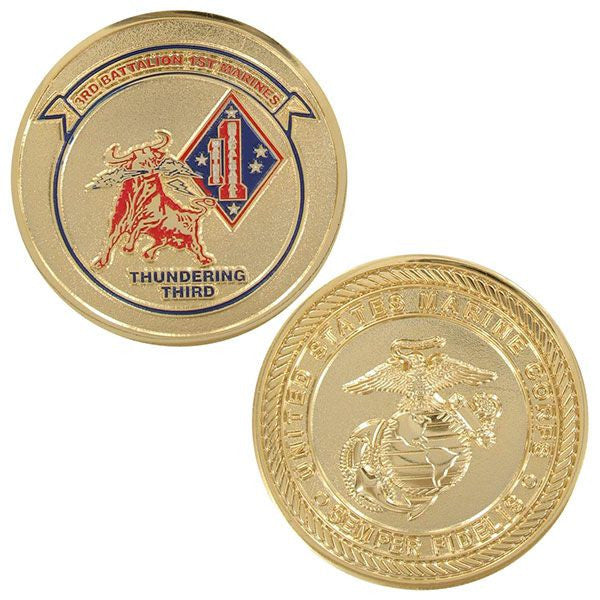 Marine Corps Coin: Third Battalion First Marines Thundering Third