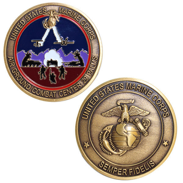 Marine Corps Coin: Air Ground Combat Center 29 Palms