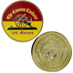 Marine Corps Coin: 11th Marines Cannon Cockers