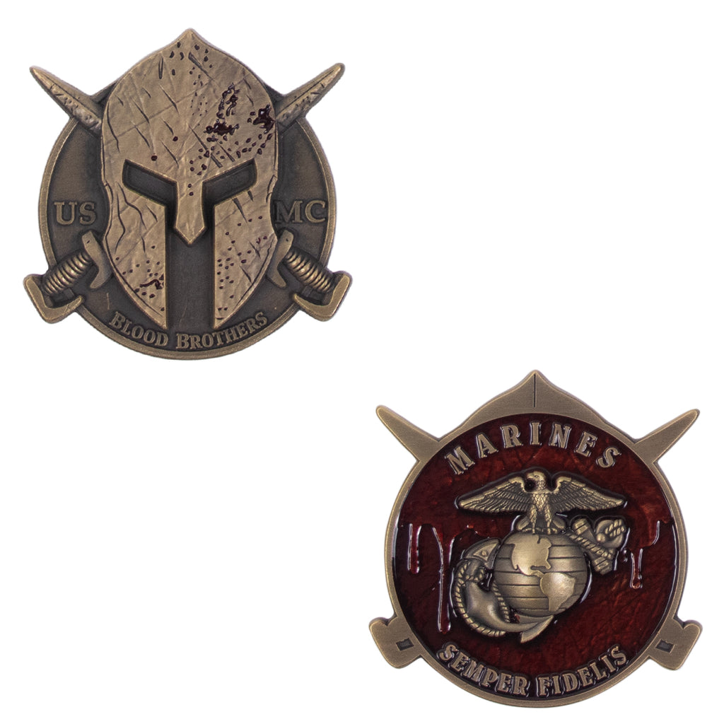 Coin: USMC Spartan Blood Brothers