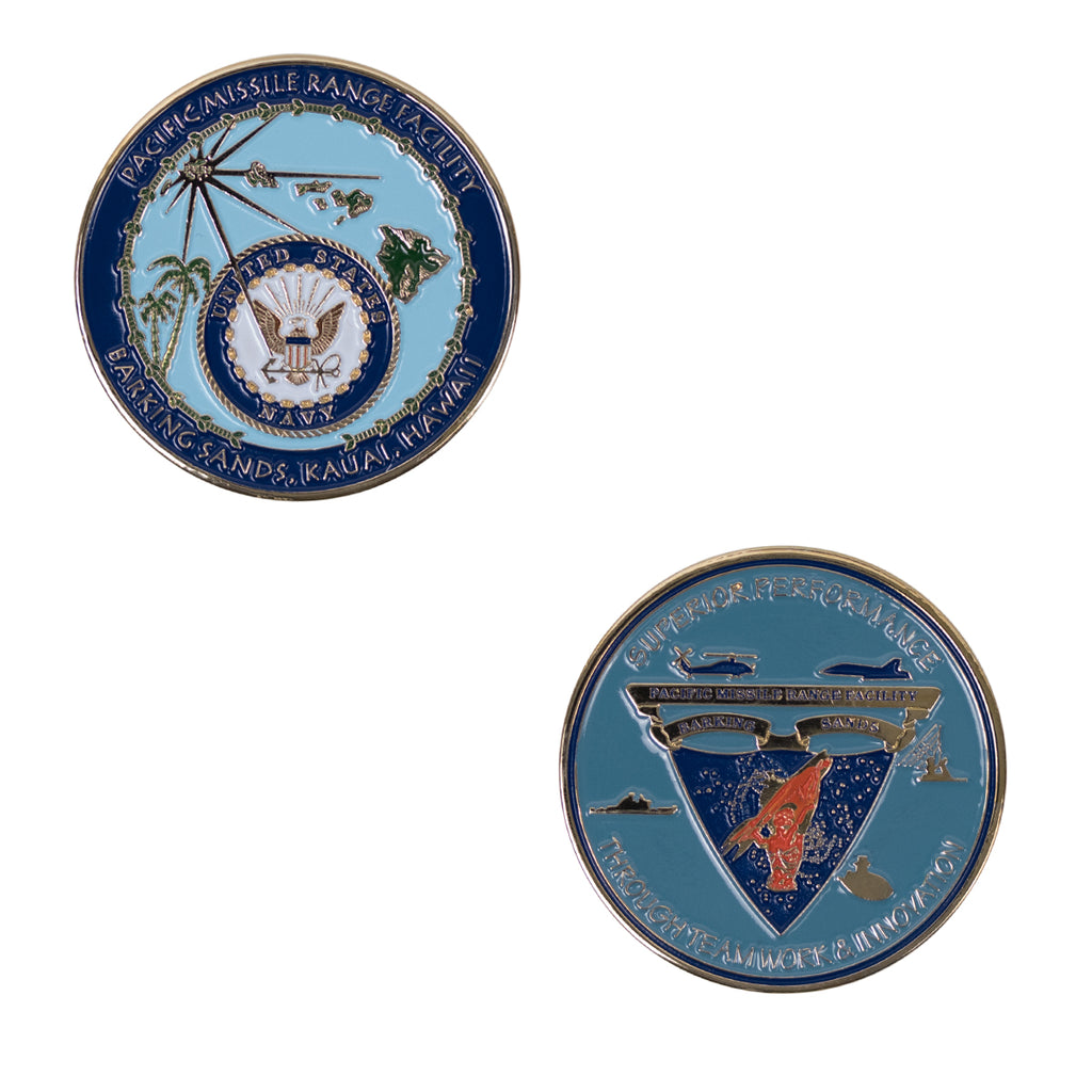 Coin US Navy: Pacific Missile Range Facility Barking Sands, Kauai, Hawaii