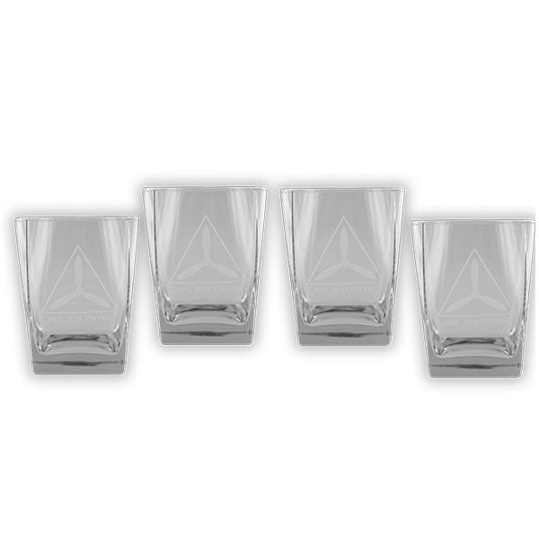 Civil Air Patrol: Glassware CAP 13oz Glass Set with etched logo