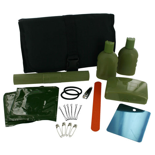 Field Hygiene Kit: black nylon with buckle