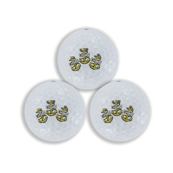 Golf Balls: Chief Petty Officer Emblems