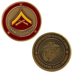 Marine Corps Coin: Lance Corporal *NON-RETURNABLE/NON-REFUNDABLE*