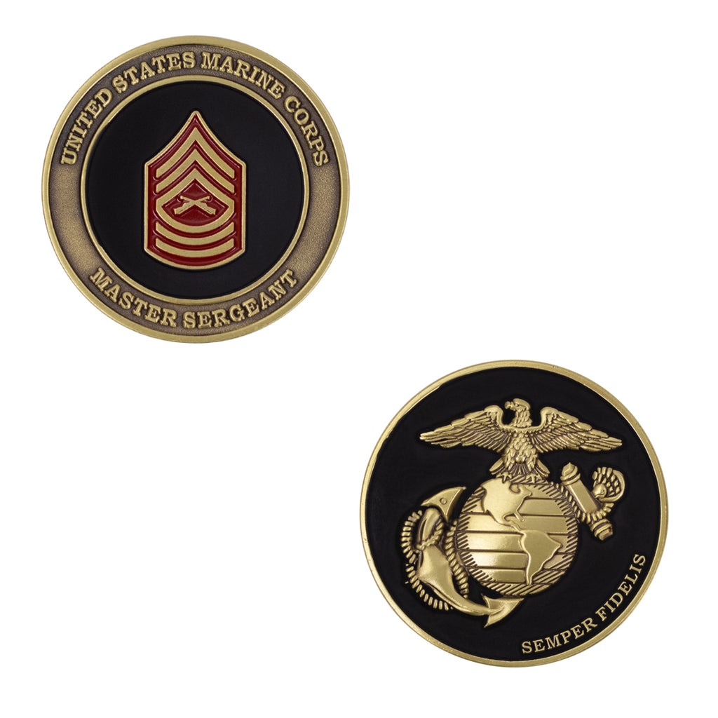 Marine Corps Coin: Master Sergeant 1.75