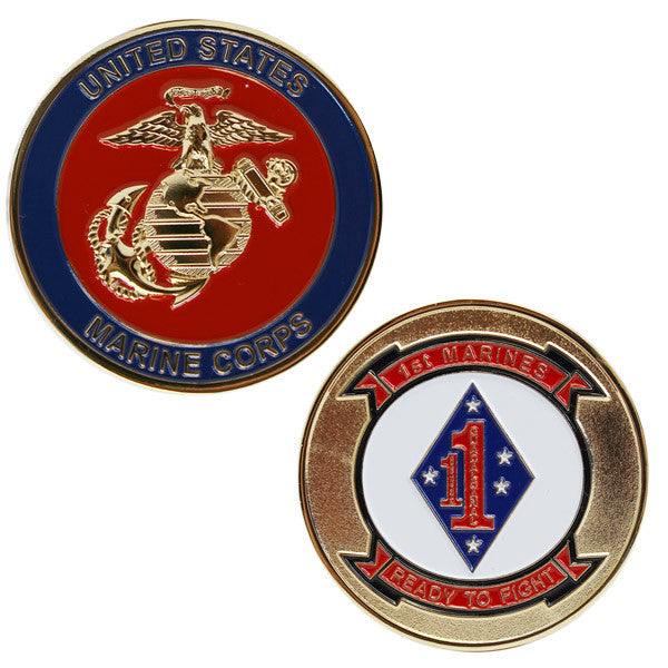 Marine Corps Coin: 1st Marines Ready to Fight