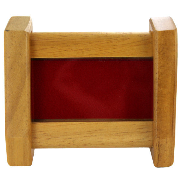 Oak Desktop Coin Holder (2 – Red)