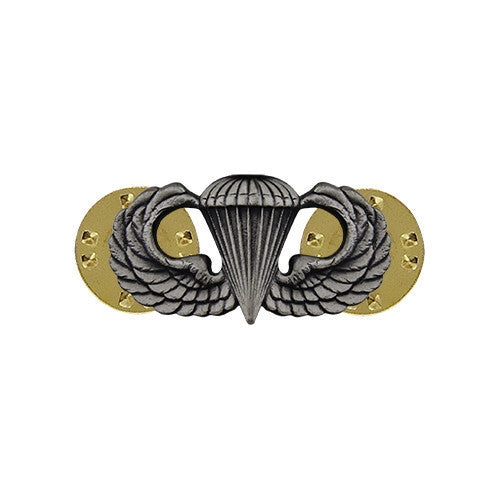 Dress Badge: Basic Parachutist Insignia - miniature, oxidized