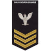 Navy E6 FEMALE Rating Badge: Air Traffic Control - blue