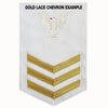 Navy E6 Rating Badge: Quartermaster - white
