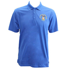 Men's True Royal Blue Short Sleeve Polo Shirt Embroidered With USNSCC Seal