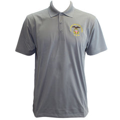 Men's Concrete Grey Short Sleeve Polo Shirt Embroidered With USNSCC Seal