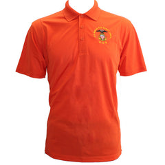 Men's Deep Orange Short Sleeve Polo Shirt Embroidered With USNSCC Seal