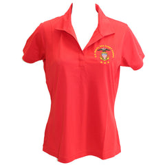 Ladies True Red Short Sleeve Polo Shirt Embroidered With USNSCC Seal