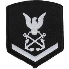 NLCC - PO3 with (1 Stripe) NLCC Cadet Rating Badge Male (White on Black)