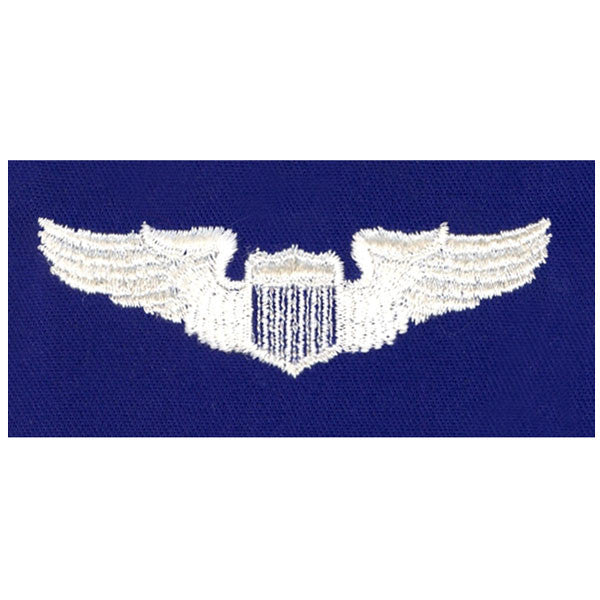 Civil Air Patrol:  Insignia - Air Force Pilot on Ultra Marine Blue Cloth