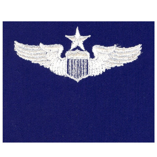 Civil Air Patrol:  Insignia - Air Force Senior Pilot on Ultra Marine Blue Cloth