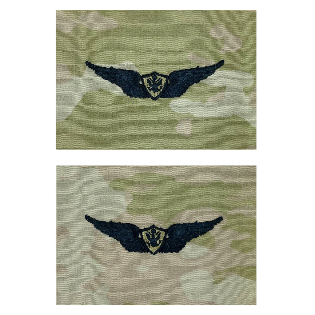 Army Embroidered Badge on OCP Sew On: Aircraft Crewman: Aircrew - Basic