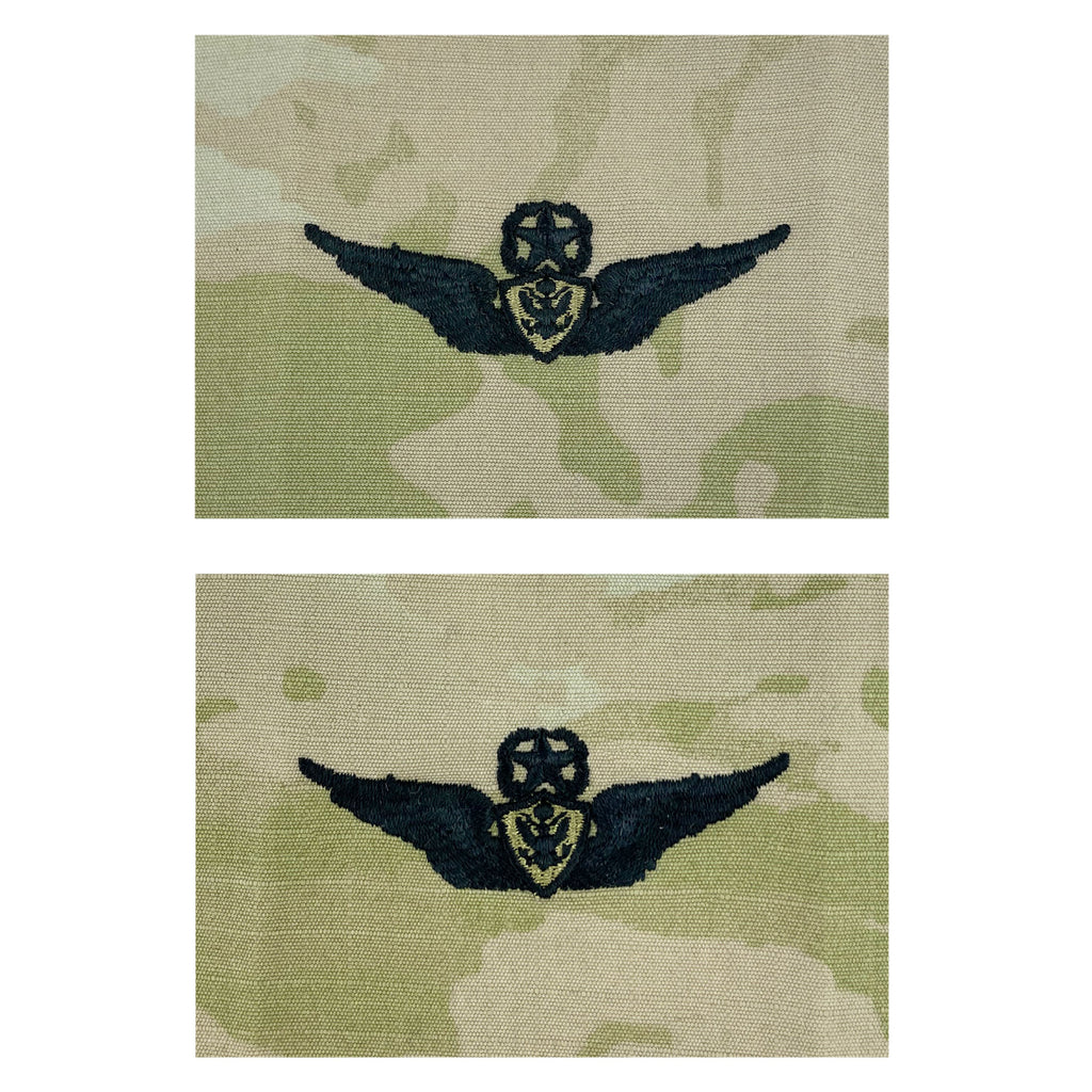 Army Embroidered Badge on OCP Sew on: Aircraft Crewman - Master