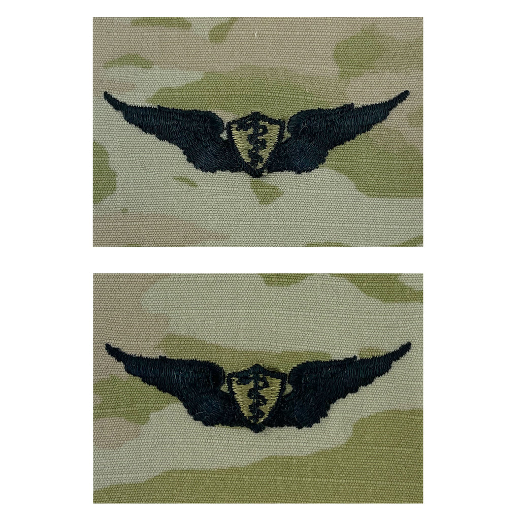 Army Embroidered Badge on OCP Sew On: Flight Surgeon - Basic