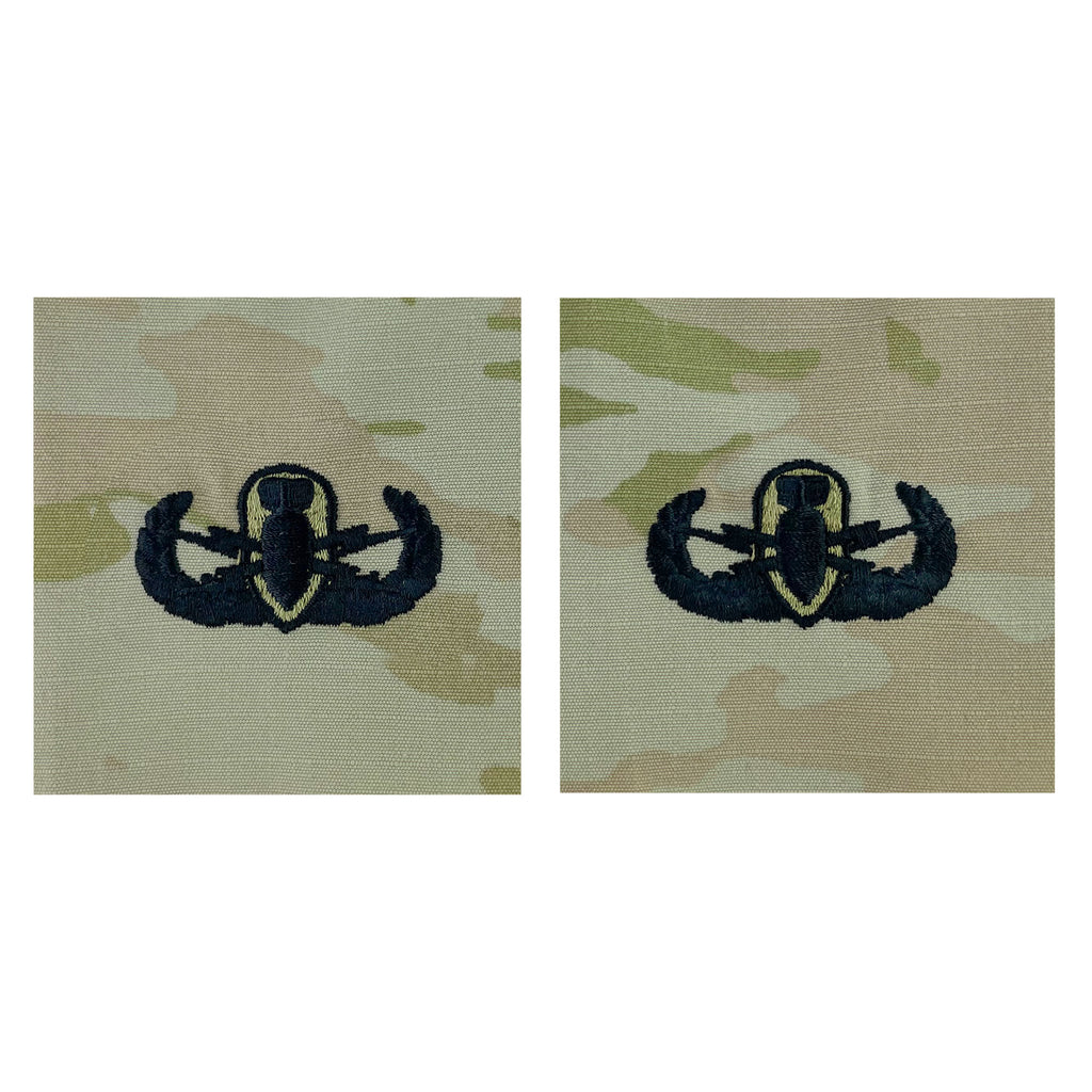 Army Embroidered Badge on OCP Sew On: Explosive Ordnance Disposal - Basic