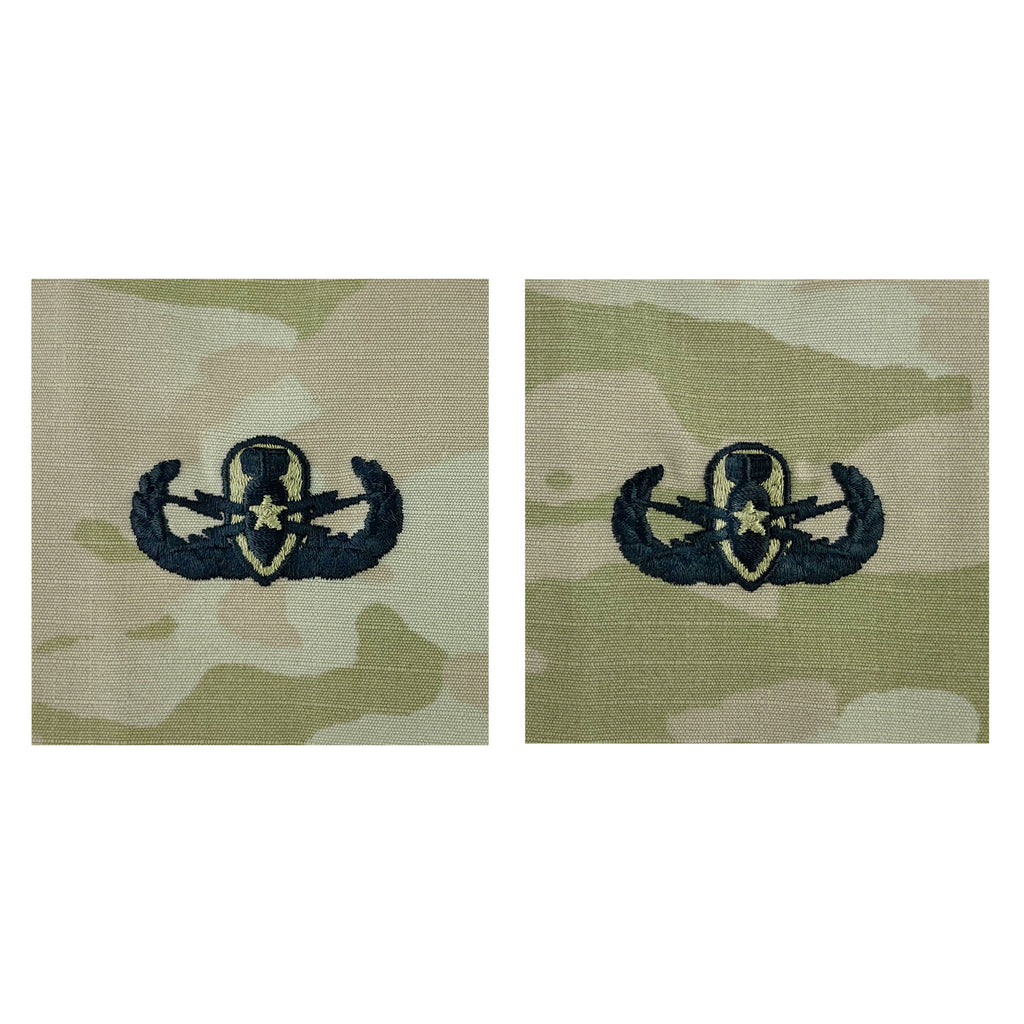 Army Embroidered Badge on OCP Sew On: Explosive Ordnance Disposal - Senior