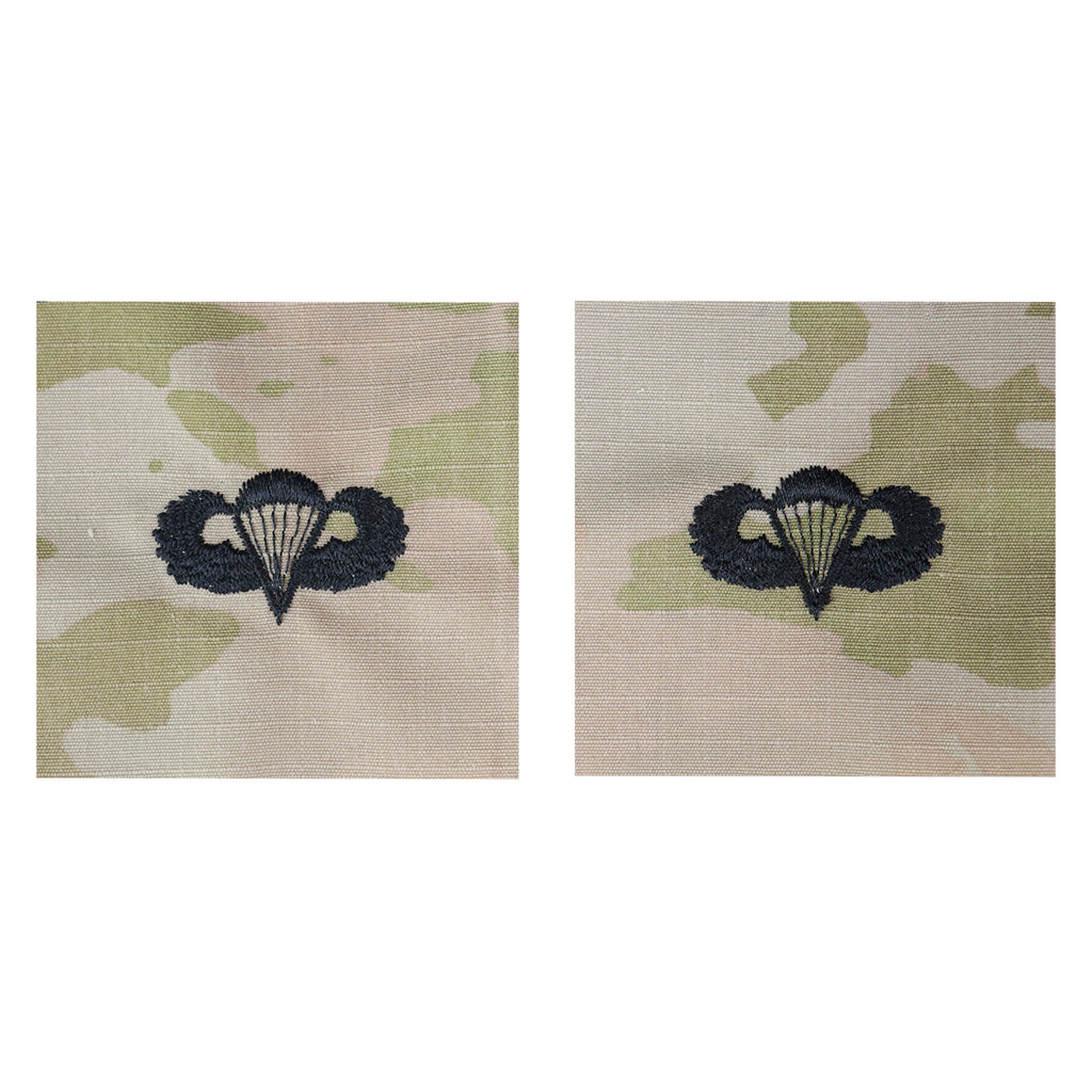 Army Embroidered Badge on OCP Sew On: Parachutist - Basic