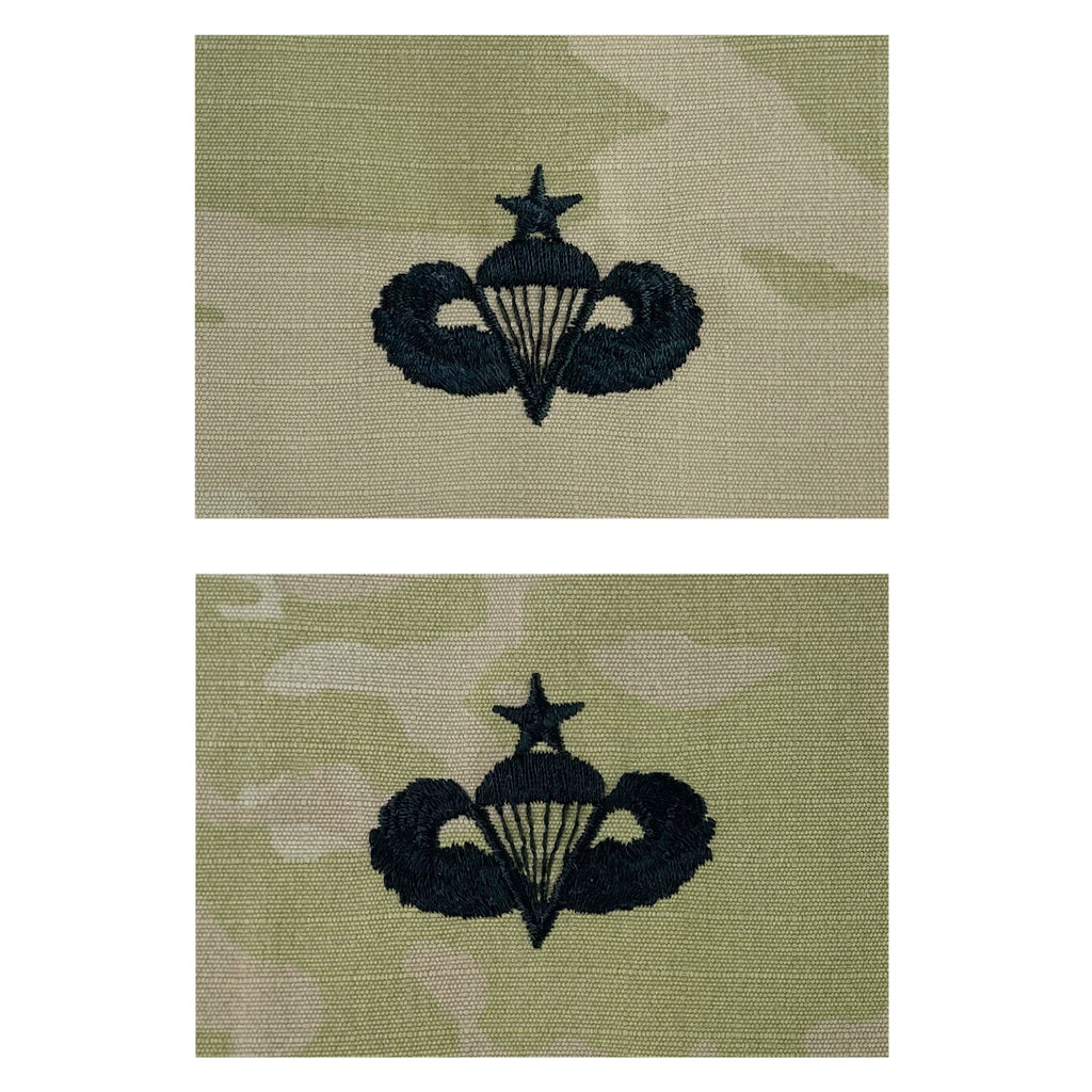 Army Embroidered Badge on OCP Sew On: Parachutist - Senior