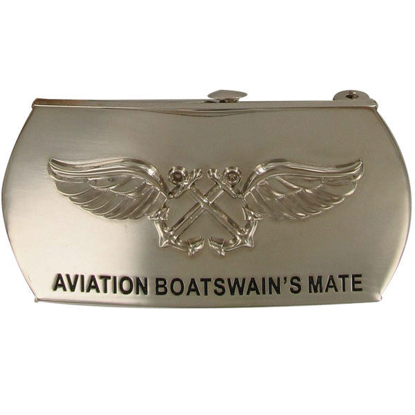 Navy Enlisted Specialty Belt Buckle: Aviation Boatswain's Mate: AB