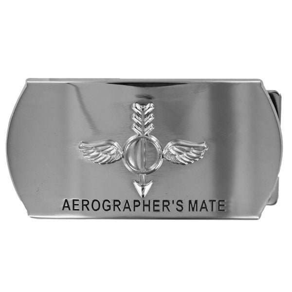 Navy Enlisted Specialty Belt Buckle: Aerographer's Mate: AG
