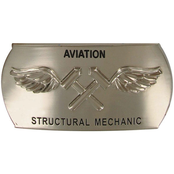 Navy Enlisted Specialty Belt Buckle: Aviation Structural Mechanic: AM