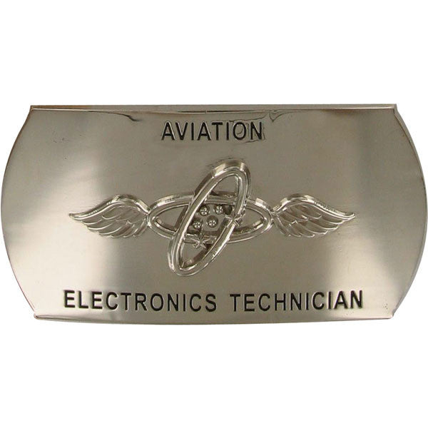 Navy Enlisted Specialty Belt Buckle: Aviation Electronics Technician: AT