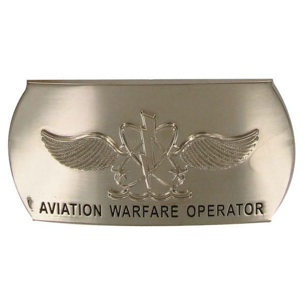 Navy Enlisted Specialty Belt Buckle: Naval Aircrewman: AW