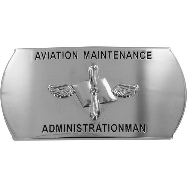 Navy Enlisted Specialty Belt Buckle: Aviation Maintenance Administrationman