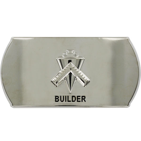 Navy Enlisted Specialty Belt Buckle: Builder: BU
