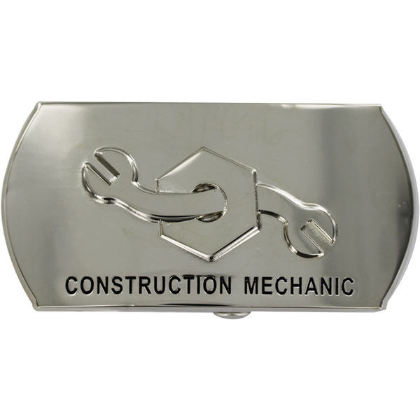 Navy Enlisted Specialty Belt Buckle: Construction Mechanic: CM