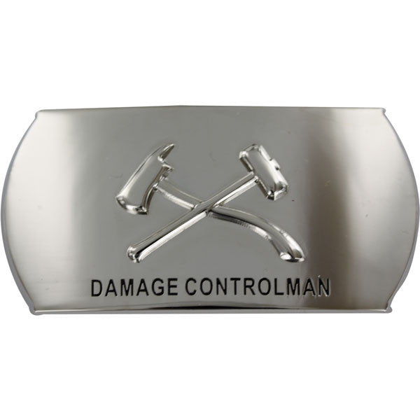 Navy Enlisted Specialty Belt Buckle: Damage Controlman: DC