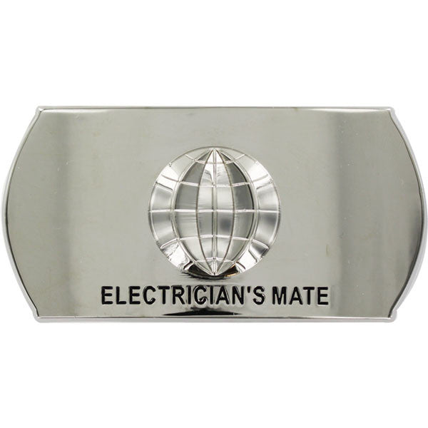 Navy Enlisted Specialty Belt Buckle: Electrician's Mate: EM