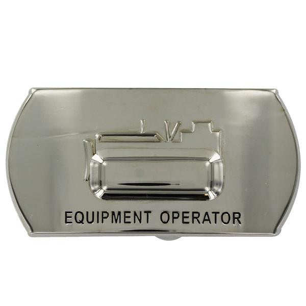 Navy Enlisted Specialty Belt Buckle: Equipment Operator: EO
