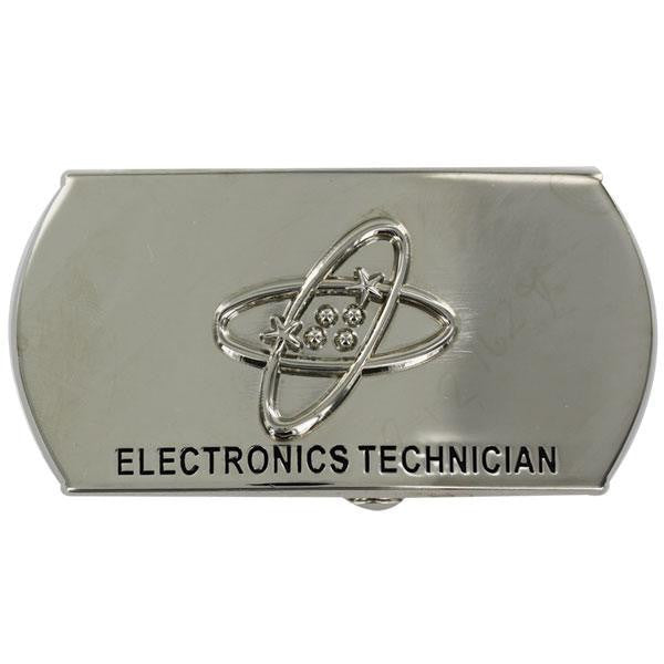 Navy Enlisted Specialty Belt Buckle: Electronics Technician: ET