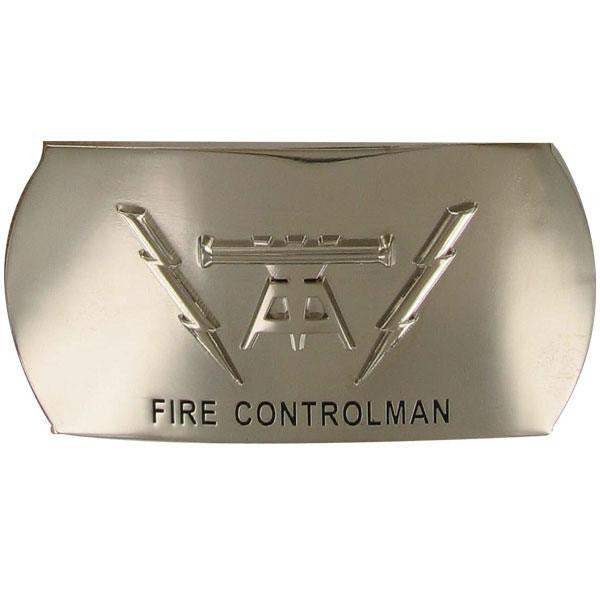 Navy Enlisted Specialty Belt Buckle: Fire Controlman: FC
