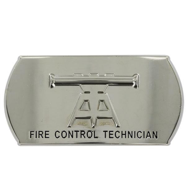 Navy Enlisted Specialty Belt Buckle: Fire Control Technician: FT