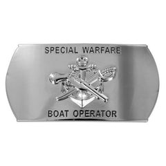 Navy Enlisted Specialty Belt Buckle: Special Warfare Boat Operator: SB