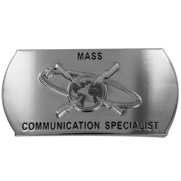 Navy Enlisted Specialty Belt Buckle: Mass Communications Specialist: MC