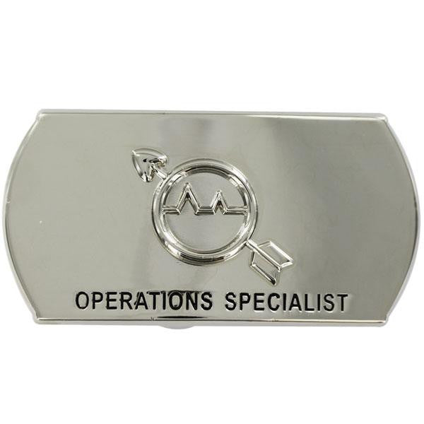 Navy Enlisted Specialty Belt Buckle: Operations Specialist: OS