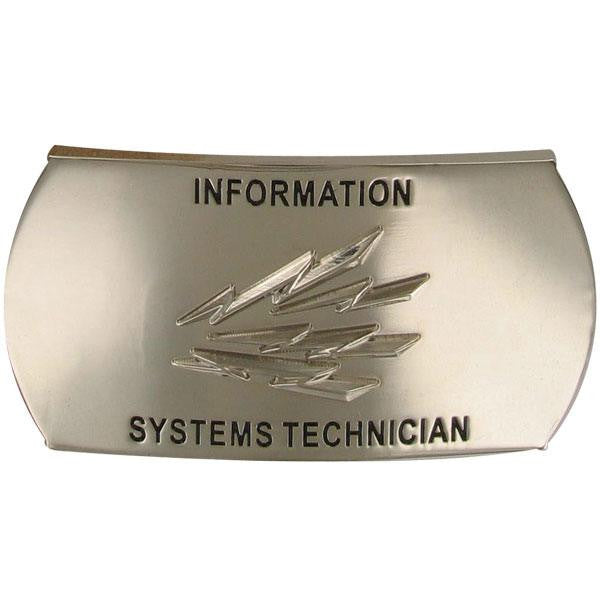 Navy Enlisted Specialty Belt Buckle: Information Systems Technician: IT