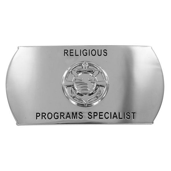 Navy Enlisted Specialty Belt Buckle: Religious Programs Specialist: RP